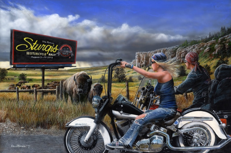 Herding for sturgis quot limited editions all artwork kevin daniel